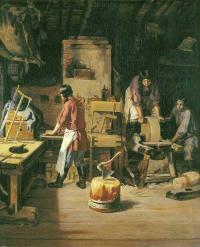 В столярной мастерской (1845) ГТГ