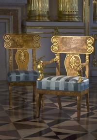 Кресло и стул. Мастерская Г. Гамбса (?) (1817) Павловск.