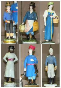 Какой завод выпустил эти фарфоровые статуэтки?