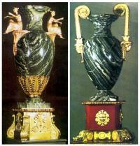 По чьему проекту созданы вазы из ревневской яшмы?
