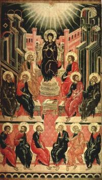 Сошествие Святого Духа на апостолов. 1666 год. Москва, церковь Троицы в Никитниках
