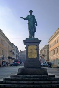 Кто скульптор памятника де Ришельё в Одессе?