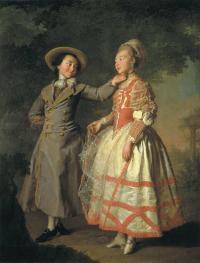 Е. Н. Хрущова и Е. Н. Хованская. 1773 (Русский музей, Санкт-Петербург).