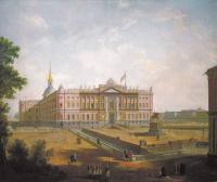 Кто автор пейзажа «Вид на Михайловский замок и площадь Коннетабля» 1800г.?