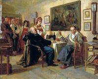 «Торг. Сцена из крепостного быта. Из недавнего прошлого», (1866) — Государственная Третьяковская галерея.
