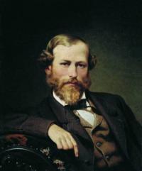 Чей портрет написанный Бронниковым Ф. А. в 1873 г.?