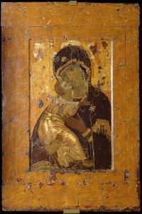 Владимирская (Вишгородская) икона Божией Матери. XII в. ГТГ