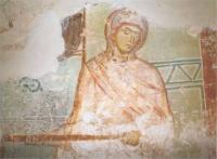 Откуда этот фрагмент  новгородской живописи «Жена Иова» первой половины 12 в.?