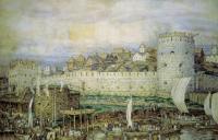 В каком году стены московского кремля стали белокаменными?