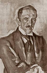 Портрет, какого скульптора кисти В. А. Серова?