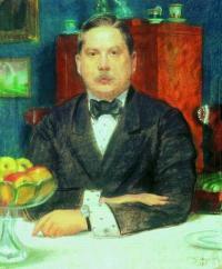 Чей портрет кисти Б. Кустодиева?