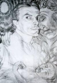 Чей автопортрет с музой, нарисованный в 1906 году?