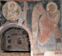 Откуда этот фрагмент новгородской живописи Ангела из «Благовещения» второй половины 14 века?